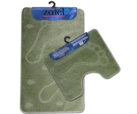 Набор ковриков для ванной Zalel 2 предмета 60х100 (зеленый)