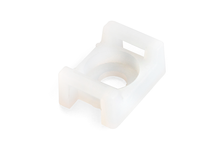 Площадка монтажная FORTISFLEX под винт, ПМО 22х16 мм, цвет белый (уп/100 шт)