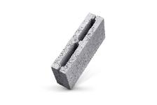 Керамзитный блок М50 перегородочный 390х190х120 мм, полублок