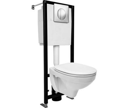 Комплект DELFI (подв. с кр. т/п lift+инст. BLACK с кн. хром глянцевый), белый, Сорт 1 Фотография_0