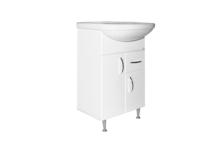 Тумба для ванной MIXLINE Комфорт 52 с умывальником Альфана 52 (ПВХ)