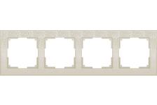 Рамка 4 Поста Универсальная Слоновая Кость Flock Werkel