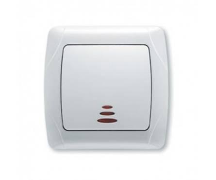 Выключатель ViKo Carmen СП 1-клав.белый с подсветкой Фотография_0
