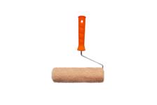 Валик Намерение Бюджетный из натурального меха с ручкой, 140 мм, d 42 мм, ворс 12 мм