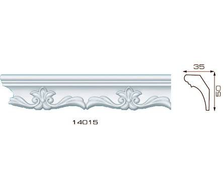 Плинтус потолочный 1,3м Инжекционный Лагом 14015, для натяжного потолка Фотография_0