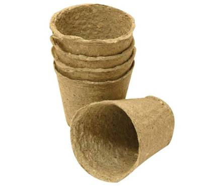 Торфяной Горшочек для рассады 80*80 мм круглый (Фаско)