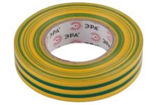 Изолента ПВХ Эра 15 мм х10 м, желто-зеленая