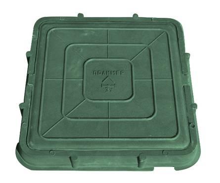 Люк легкий (685х685) (А-30/3тн) квадратный зеленый