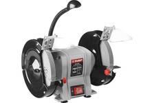 Станок точильный ЗУБР МАСТЕР двойной диаметр 125 х 20 х 32 мм, лампа подсветки, 150 Вт