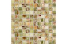 Мозаика Caramelle Mosaic Pietrine Onice Jade Verde полированная, 298х298х7 мм, чип 23х23 мм
