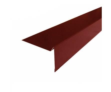 Планка торцевая для г/ч (ТН) ШИНГЛАС Polyester коричневая RAL 8017 (2000х100мм)