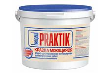 Краска ВД BERGAUF Praktik интерьерная, моющаяся, 13 кг