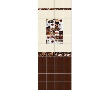 Панель ПВХ UNIQUE 3D Кофе Микс 2700*250*8 мм Фотография_0