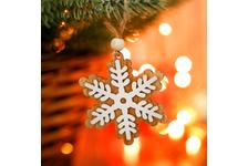 Подвеска новогодняя Снежинка 11×10 ×1 см