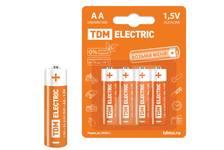 Элементы питания LR6 AA Alkaline 1,5V BP-4 TDM (4шт/уп)