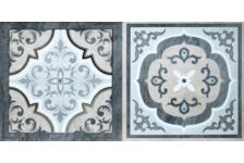 Декор Пиастрелла Пьемонт Лион 2 250х500, серый