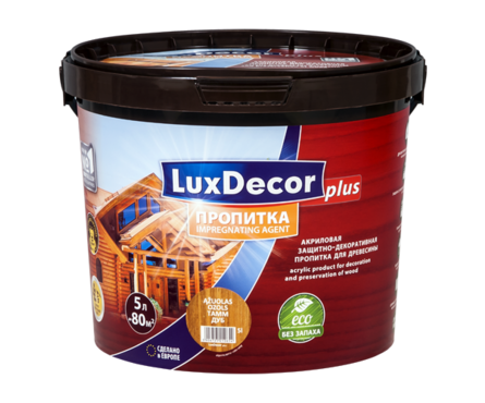 Пропитка для дерева акриловая LUXDECOR PLUS 5л (Тик)