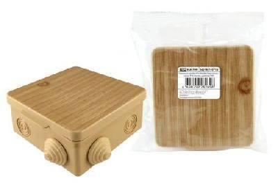 Коробка распределительная 100х100х55мм сосна,  IP54 TDM Фотография_0
