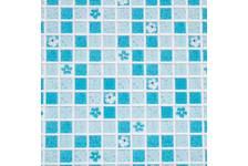 Панель ПВХ 955х480мм Мозаика Бирюзовый с квадратами