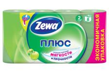Туалетная бумага ZEWA Plus Яблоко (1уп/8 рулонов)