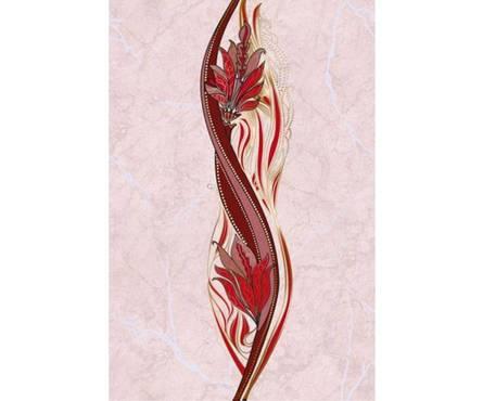 Плитка керамическая Golden Tile Александрия розовый декор 200х300 Фотография_0