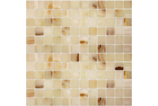 Мозаика Caramelle Mosaic Pietrine Onice Jade Bianco полированная, 298х298х7 мм, чип 23х23 мм