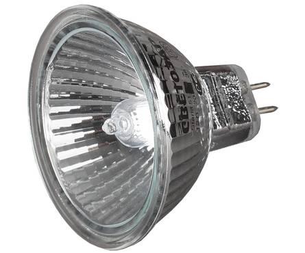 Лампа галогенная СВЕТОЗАР с защитным стеклом, GU5.3, диаметр 51 мм, 35 Вт, 12 В Фотография_0