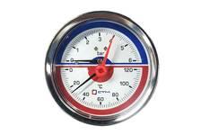 Термо-монометр CTM аксиального подключения 1/4, измерения до 6 бар, до+120С