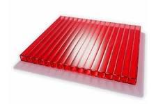 Поликарбонат сотовый Skyglass красный 6 мм 2,1х12 м