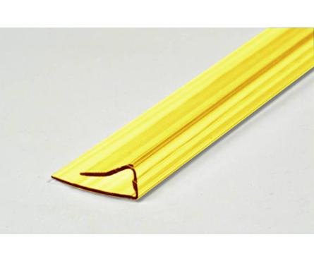 Профиль торцевой UP, 4 мм, L= 2,1 м, желтый Фотография_0