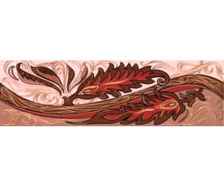 Плитка керамическая Golden Tile Александрия розовый фриз 200х60 Фотография_0