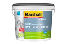 Краска ВД Marshall для кухни и ванной BW 4,5 л