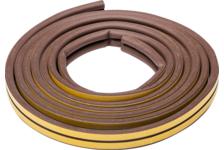 Уплотнитель Зубр самоклеящийся резиновый, профиль D, коричневый 6 м