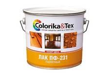 Лак паркетный ПФ-231 Colorika&Tex глянцевый 0,8 кг
