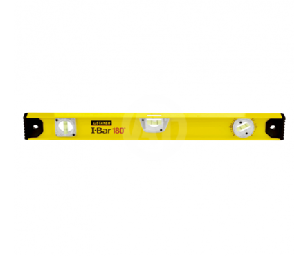 Уровень STAYER MASTER I-Bar 80 см, рельс двутавровый, 3 ампулы (1 поворотная на 360 °C), линейка Фотография_0