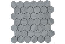 Мозаика Caramelle Mosaic Pietrine Hexagonal Marmara grey полированная, 292х298х6 мм, чип 23х40 мм