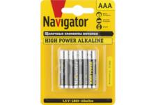 Элемент питания Navigator алкалиновая R03 ААА (4 штуки)