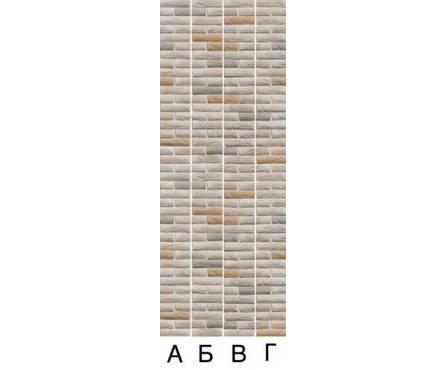 ПВХ Панель UNIQUE 3D 2700*250*8мм Кирпич бежевый декор из 4х шт.(0,675 кв. м, в уп. 12 шт.)