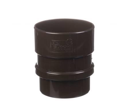 Муфта трубы соединительная Дёке LUX (шоколад)