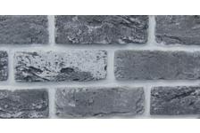 Гипсовая плитка Кирпич Саман 300-18 серый, 6,5х20 см, 0,5 м2 (33 штуки)