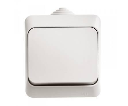 Выключатель ЭТЮД белый 1-клавишный открытой установки IP 44 (Schneider Electric) Фотография_0