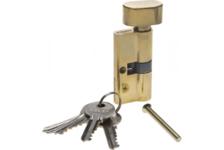 Механизм цилиндровый ЗУБР МАСТЕР 60 мм, тип ключ-защелка, 5-PIN, латунь