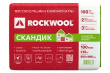 Утеплитель Минвата ROCKWOOL Скандик Лайт Баттс 800х600х100 мм (уп/2.88 м²/ 0.288 м³)