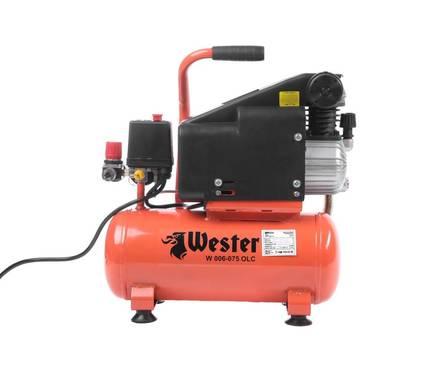 Компрессор масляный WESTER W 006-075 OLC, 750 Вт, 126 л/мин 8 бар, ресивер 6 л Фотография_0