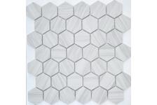 Мозаика Caramelle Mosaic Pietrine Hexagonal Dolomiti Bianco MAT hex матовая, 292х298 мм, чип 18х30 мм