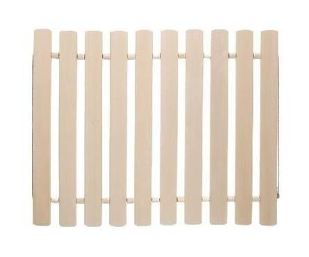 Коврик деревянный, липовая рейка, 40х40х1,2 Банные штучки