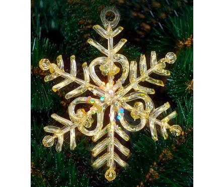 Снежинка золотая 06447N2, размер 14 см (два вида исполнения)  Фотография_0