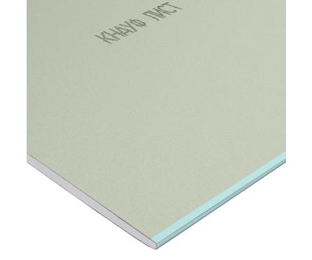 Гипсокартонный лист KNAUF ГСП-Н2 влагостойкий, 2.5х1.2 м, толщина 9.5 мм Фотография_0