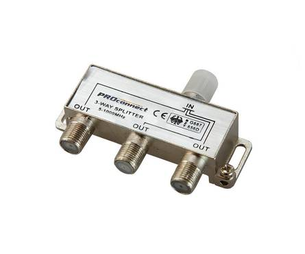 Делитель-3 ТВ PROCONNECT под F разъем  5-1000 MHz Фотография_0