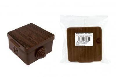 Коробка распределительная 65х65х50мм бук, IP54 TDM Фотография_0
